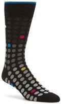 Bugatchi Men's Polka Dot Crew Socks