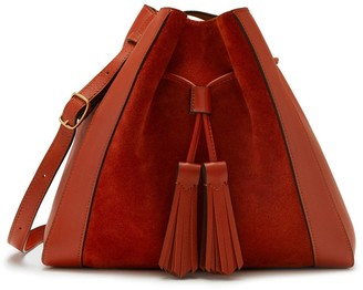 Mulberry Small Millie Tote Rust Suede and Silky Calf