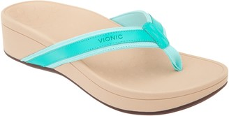 Vionic Platform Leather Sandals - High Tide