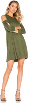 Michael Lauren Radford Open Shoulder Dress in Olive. - size S (also in )