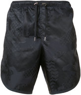 Neil Barrett lace-up track shorts - men - Polyamide - L