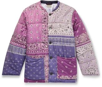 KAPITAL Patchwork Bandana-Print Padded Cotton Jacket - Men - Purple