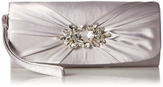Jessica McClintock Women's Marian Wristlet with Rhinestone Broach