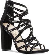 Jessica Simpson Emmi Studded Block-Heel Sandals