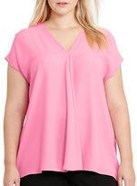 Lauren Ralph Lauren Plus Georgette Short-Sleeve Top