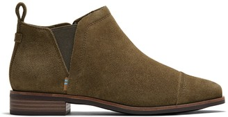 Toms Military Olive Suede Women's Reese Booties