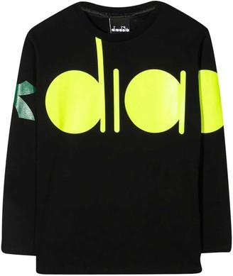 Diadora Black Teen T-shirt