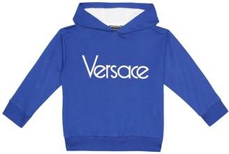 Versace Kids Logo stretch-cotton hoodie