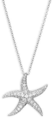 Effy 14K White Gold Diamond Starfish Pendant Necklace