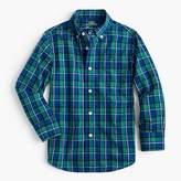 J.Crew Kids' Secret Wash shirt in cobalt plaid