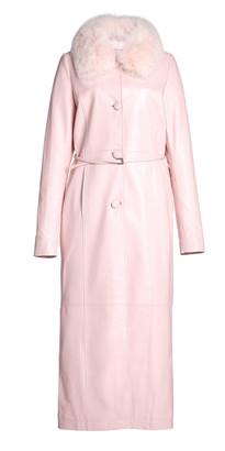 Saks Potts Charlot Fur-Trimmed Leather Coat