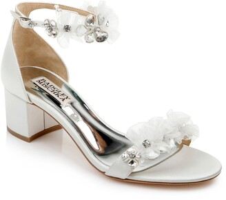 Badgley Mischka Candy Floral Embellished Sandal