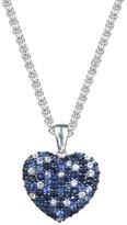 Effy Jewelry Effy 925 Splash Blue Sapphire Heart Pendant, 2.75 TCW