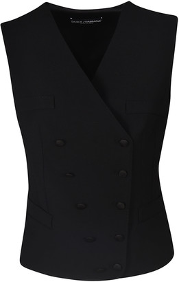 Dolce & Gabbana Double Breasted Wrapped Style Gilet