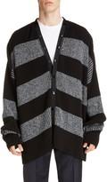 Balenciaga Stripe Oversize Cardigan Sweater