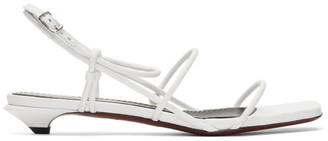 Proenza Schouler White Strappy Low Kitten Heel Sandals