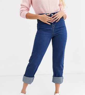 Urban Bliss relaxed straight leg jeans with deep turn-up