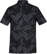 Hurley Men's Woven Palm Frond Cotton Shirt