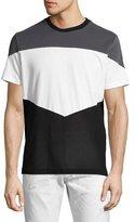 Diesel Mixed-Knit Blocked T-Shirt, Gray