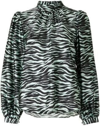 Jonathan Simkhai Zebra-Print Blouse