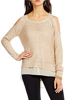 Jessica Simpson Nia Cold Shoulder Sweater