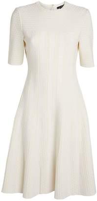 St. John Jacquard Knit Flared Dress