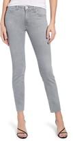 AG Jeans Mari High Waist Raw Hem Ankle Slim Straight Leg Jeans