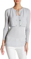 Inhabit Faux Cardi Layer Cashmere Blend Sweater
