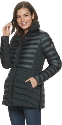 Bernardo B By Women's B by Packable Hidden-Hood Jacket