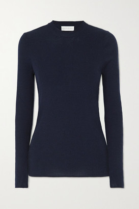Rebecca Vallance Hinterland Ribbed Merino Wool And Silk-blend Sweater