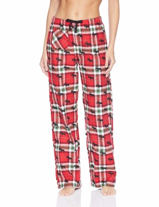 Hatley Little Blue House by Women's Printed Flannel Pajama Pants