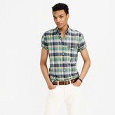 J.Crew Short-sleeve oxford shirt in plaid