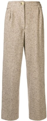 Gianfranco Ferré Pre-Owned High Rise Straight Trousers