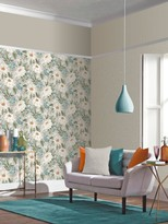 Dahlia Arthouse Painted Wallpaper in Green