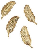 Southern Living Brass Leaf Card Holder, Set of 4