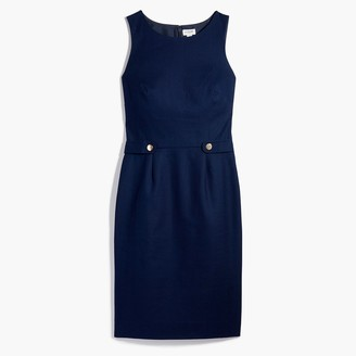 J.Crew Petite sheath dress with waist tabs