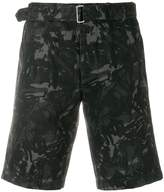 Officine Generale scribble print shorts