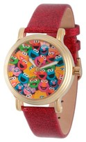 Sesame Street Women's Women's Gold Vintage Alloy Watch - Red