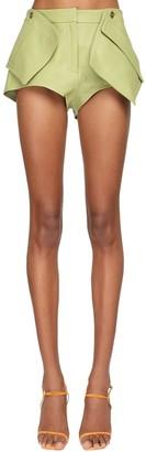 Jacquemus 3d Pocket Leather Shorts