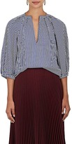 Martin Grant Women's Balloon-Sleeve Striped Cotton Top