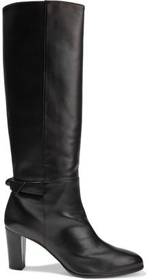 Alexandre Birman Rachel 80 Knotted Leather Knee Boots