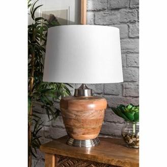 """Highland Dunes Alvaro Aluminium and Wood 21"""" Desk Lamp"""