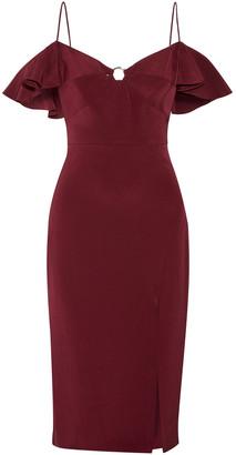 Cushnie Blake Cold-shoulder Silk-georgette Dress