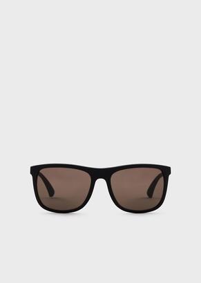 Emporio Armani Squared Man Sunglasses In Recycled Material - R-Ea Capsule