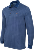 Greg Norman for Tasso Elba Men's Big & Tall Long-Sleeve Dotted-Grid Polo, Only at Macy's