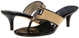 MICHAEL Michael Kors Hamilton Kitten Thong (Natural) - Footwear