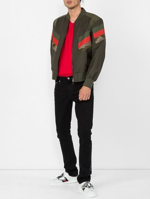 Neil Barrett Striped Bomber Jacket