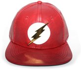 Bioworld Men's Licensed DC Comics - Flash Metal Bolt PU Leather Snapback Hat O/S