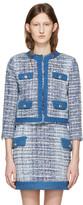 Pierre Balmain Blue Tweed Blazer