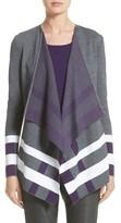 St. John Women's Milano Knit Jacquard Drape Front Jacket